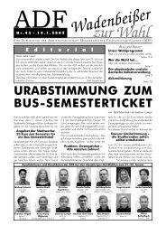 Wadenbeißer Nr. 43 vom 14.01.2003 (Wahlausgabe) [PDF - ADF