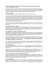 Précautions importantes au sujet de la sécurité et ... - LoTRDC