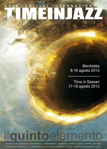 Il tabloid del festival Time in Jazz 2013