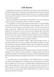 COC Report - European Association of Transactional Analysis