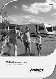 Matkailuvaunut - Hinnasto ja teknilliset tiedot 2013 - Dethleffs