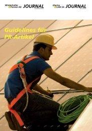 Guidelines für PR-Artikel - Winterhalter + Fenner AG