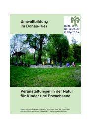 Umweltbildung im Donau0Ries Veranstaltungen in der Natur für ...