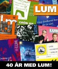 LUM nr 9, 13 november (PDF 3MB, Nytt fönster) - Humanekologi ...