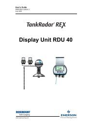 Display Unit RDU 40 User´s Guide - Emerson Process Management