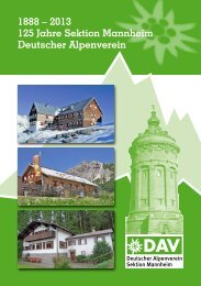 Festschrift - DAV Sektion Mannheim