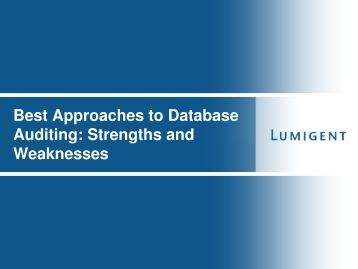 Choosing the Best DBMS Auditng Approach (Henry ... - neodbug