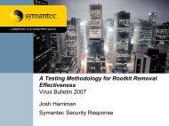 Testing method - Virus Bulletin