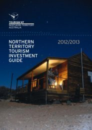 NortherN territory tourism iNvestmeNt Guide - Tourism NT