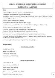 college de medecine d'urgence de bourgogne bureau et ca ... - CMUB