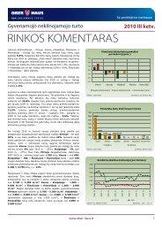 Gyvenamojo NT rinkos komentaras 2010 m. III ketv. - Ober-Haus