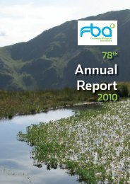 Annual Report and Accounts 2010 - Freshwater Biological Association