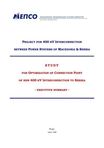 project for 400 kv interconnection between power systems of ...