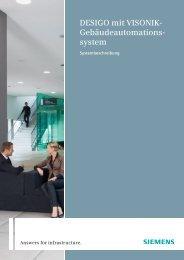 DESIGO mit VISONIK- Gebäudeautomations- system - Siemens