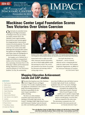 Mackinac Center Legal Foundation Scores Two Victories Over ...