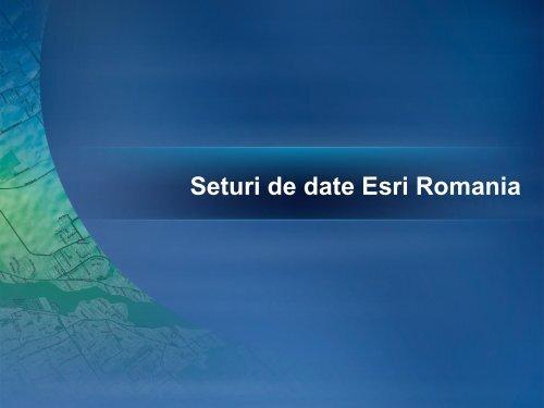 Seturi de date Esri Romania - Evenimente