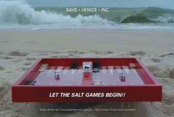 let the salt games begin!! - Bettina Werner