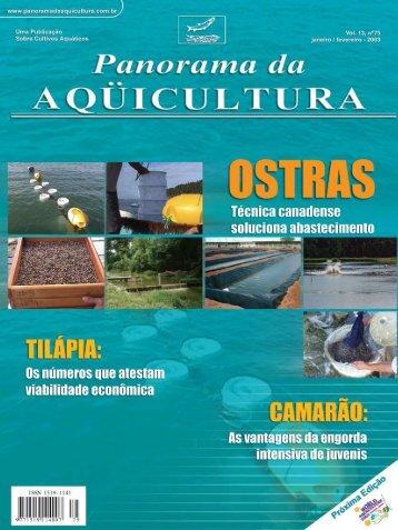Panorama da Aquicultura: Construção de Viveiros ... - Projeto Pacu