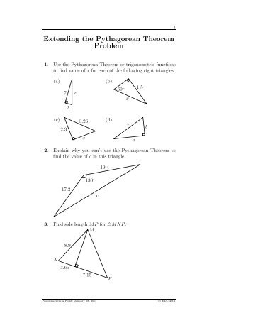 pythagorean theorem word problems worksheet pdf