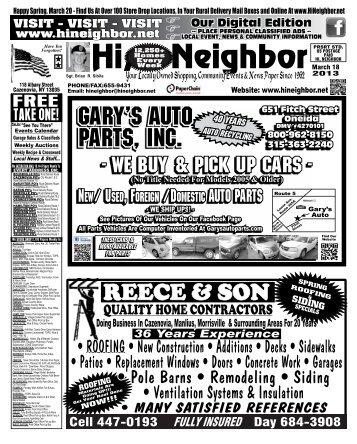 3-18-13 - The Hi Neighbor