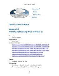 TAP V0.5 - IVOA