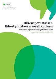Oikeusperustaisen lähestymistavan soveltaminen - Kepa.fi