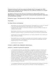 Protocolo adicional a los Convenios de Ginebra del 12 de agosto de ...