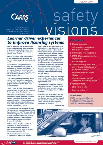 Learner driver experiences to improve licensing systems - Centre for ...
