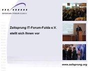 Zeitsprung IT-Forum-Fulda e.V. stellt sich Ihnen vor - Verein ...