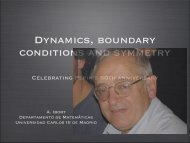 Dynamics, boundary conditions and symmetry