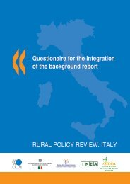 RURAL POLICY REVIEW: ITALY - Dps - MEF