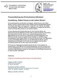Pressemitteilung des Kirchenkreises Altholstein ... - Uwe Appold