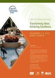 CAPC Seminar Brochure - Center to Advance Palliative Care