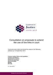 Consultation on proposals to extend the use of live links in court