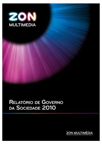 Relatório de Governo da Sociedade 2010 - Zon