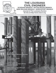 THE LOUISIANA CIVIL ENGINEER - lasce