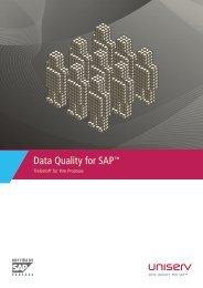 Data Quality for SAP™