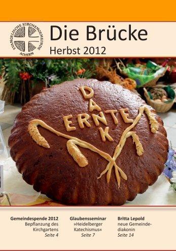 Gemeindebrief Herbst 2012 - Evangelische Kirchengemeinde Achern