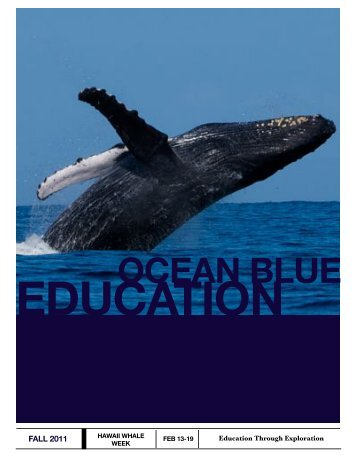 to view 2011 Whale Week - Ocean Blue Education