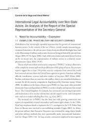 International Legal Accountability over Non-State Actors: An ...
