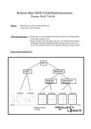 Referat über MOS-Feldeffekttransistoren - Projektlabor
