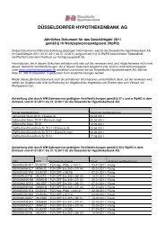 Jährliches Dokument für das Geschäftsjahr 2011 - Düsseldorfer ...