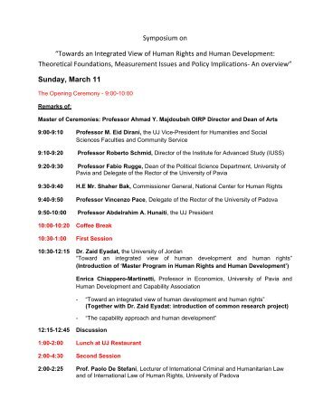 11-12 March 2007 - Workshop on Human Rights Program (PDF File)