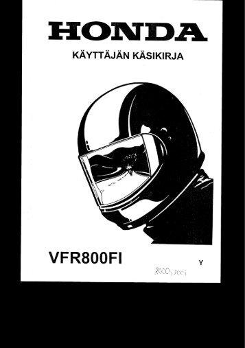 VFR800FI 2000-01 käsikirja (.pdf, 2.39 MB) - Honda