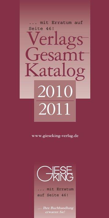 Verlags Gesamt Katalog