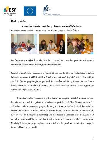 Darbseminārs Latviešu valodas mācību grāmatu ... - bilingvals.lv