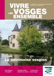 DOSSIER Le patrimoine vosgien - Vosges