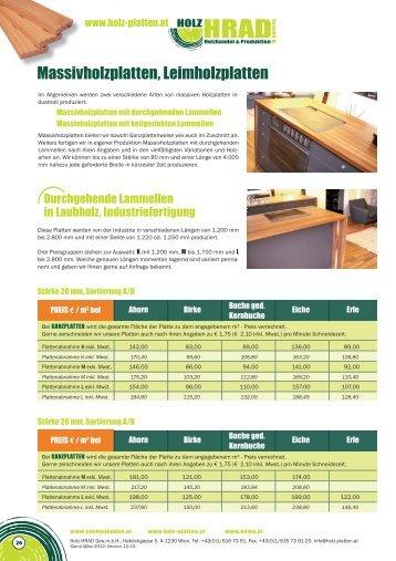 Massivholzplatten - Holz-HRAD