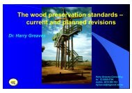The wood preservation standards – current and planned revisions