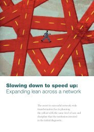 Slowing down to speed up: Expanding lean across a network